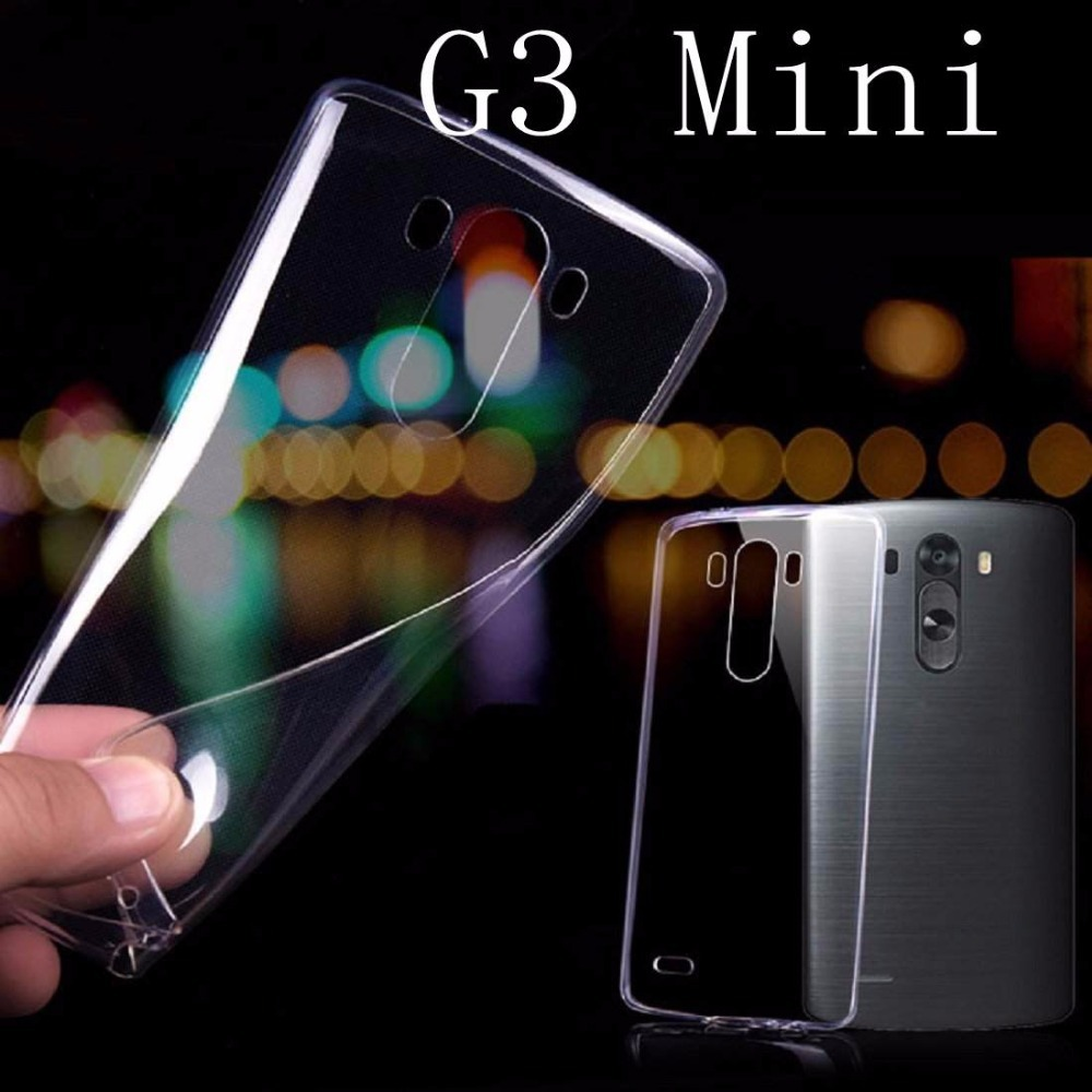 For G3 mini Transparent Case Simple Cute PC Crystal Clear Case For LG G3 Mini G3S G3 S D722 D725 D728 D724 case(China (Mainland))