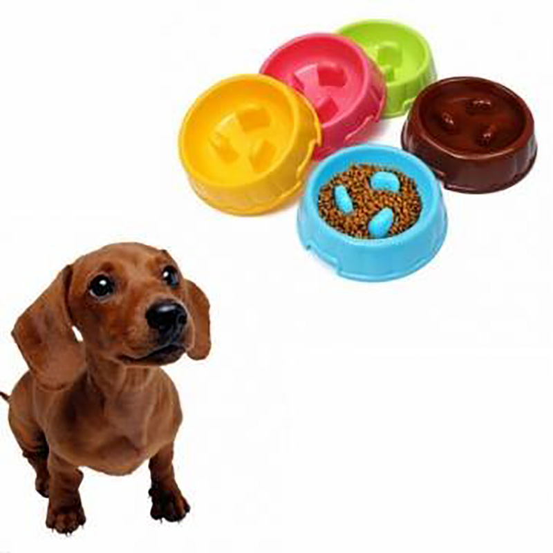 SuperDesign Three Columns Style Melamine Non-skid Slow Feed Pet Bowl For Dog and Cat Small P50(China (Mainland))