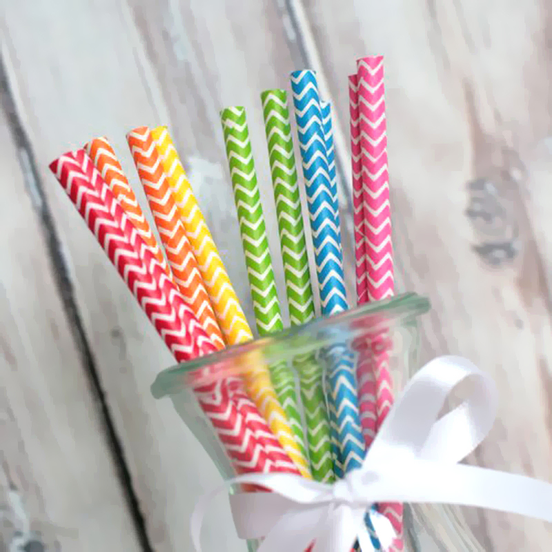 New 25pcs Colored Ripple Paper Straw Wedding Party Birthday Fashion Supplies(China (Mainland))
