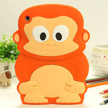 Anti-knock 3D silicon shockproof drop resistance monkey tablette tablet PC for 7.9 inch iPad mini 3/2/1 back cover case cover(China (Mainland))