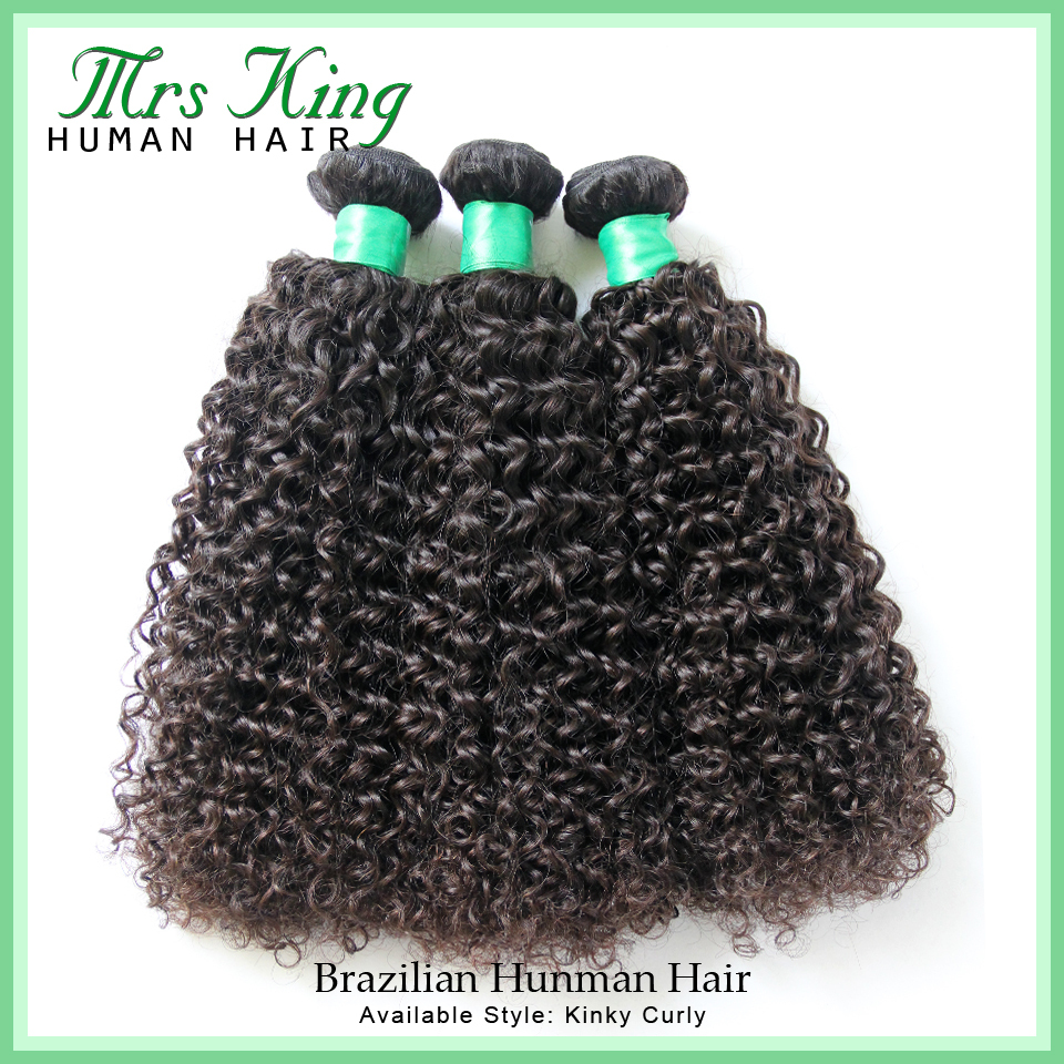 Brazilian virgin Hair kinky curly ,Sunper queen hair products 100%Human Hair Weaves Mix 3PCS/LOT Curly Virgin Hair Free Shipping(China (Mainland))