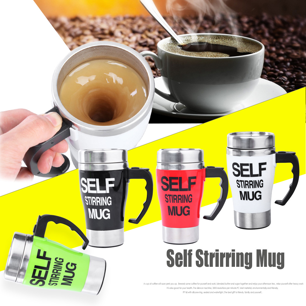 Hot and Sale Personality Stainless steel coffee self stirring mug keep warm mugs automatic mixing cup support wholesale(China (Mainland))