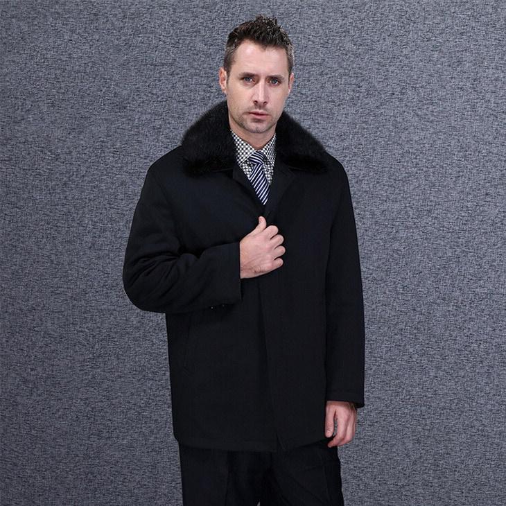 Men Winter Down Jackets 2015 New Outwear Thick Brand Slim Large Size M 3XL Long Fashion