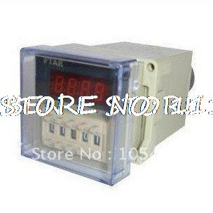 110VAC digital time delay relay timer 0.01s-9999h LED display 8 pin panel installed DH48S2Z DPDT