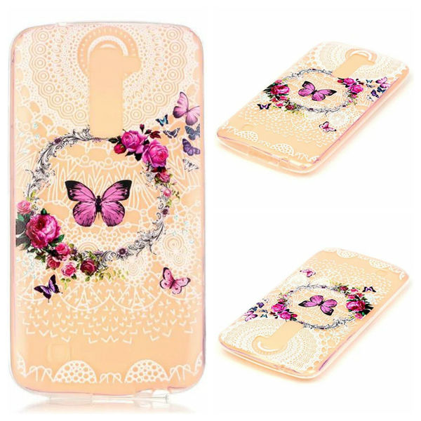 Flower Butterfly Doughnut Blossom Soft TPU Silicone Case For Ipod Touch 6 5 For LG K7/M1,K10/M2 Dandelion Sexy Lady Skin 20PCS(China (Mainland))