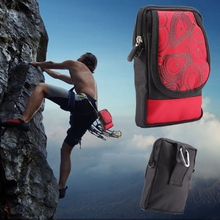Outdoor Sport Wallet Mobile Phone Bag Climb Nylon Backpack For Iphone 6 7 Waterproof Waist Buckle Pouch Loop Belt Phone Bag(China (Mainland))