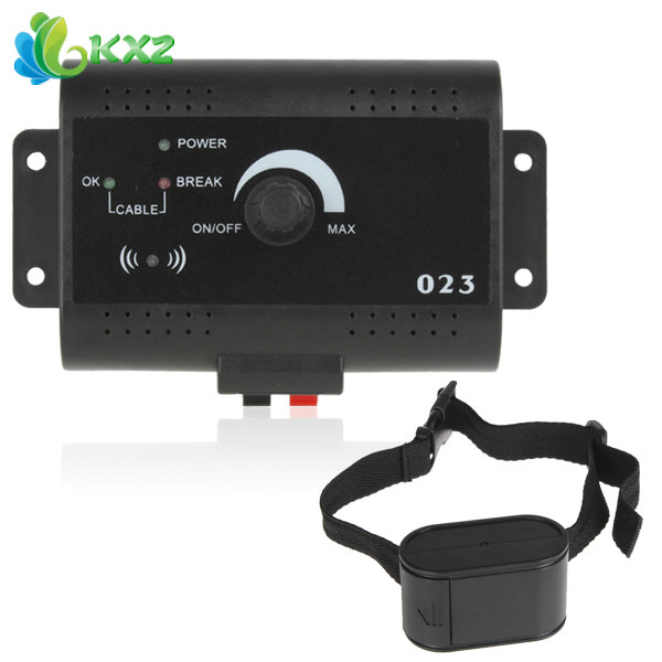 [SALE] Smart Electronic Pet Dog Fencing System Electric Dog Training Shock Collar with Tone & Shock Pulse Stimulus + 300M Wire(China (Mainland))