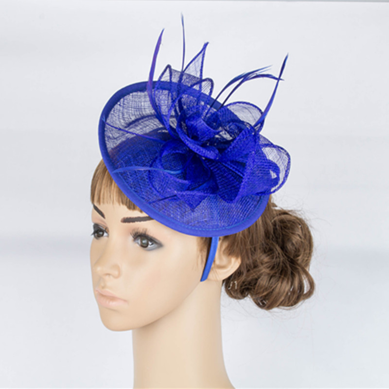 High quality multiple color sinamay base fascinator headwear sinamay millinery headpiece occasion hair accessoires hats TMYQ025(China (Mainland))