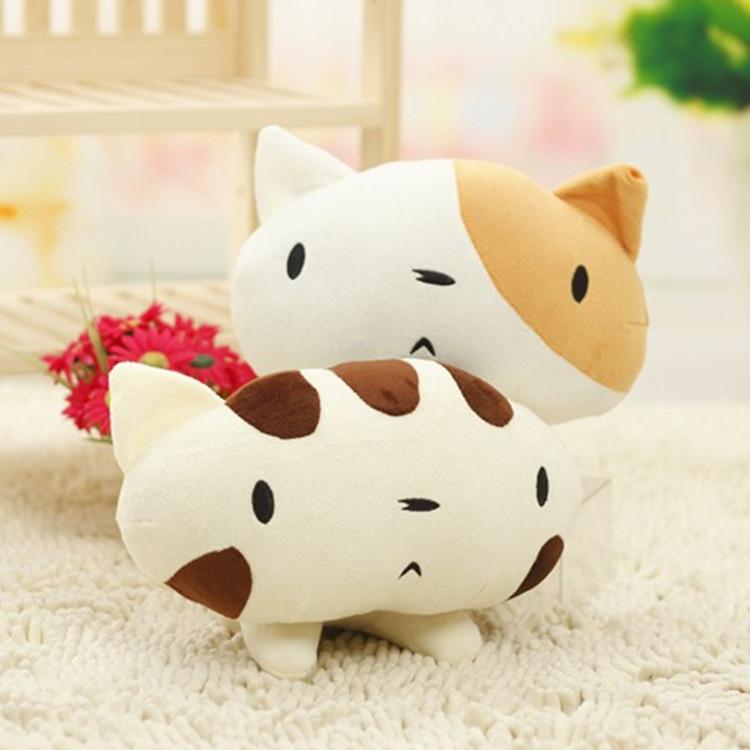 Cute Kitty Stuffed Doll Small Plush Toy Body Animals Pillow 30X25(China (Mainland))