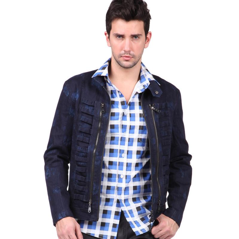 Plus Size Spring Autumn Fashion Men Stylish Crew Neck ...
