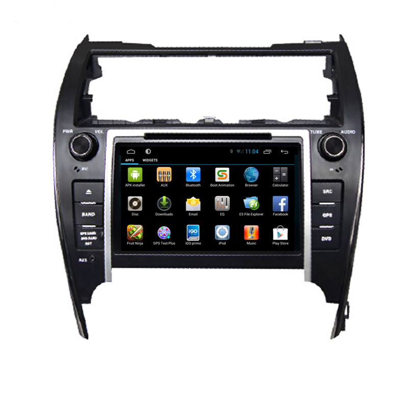 Pure Android 4.4 8 inch Car Radio for Toyota Camry 2012 for middle east and America with Quad Core 16G with 3G Wifi Bluetooth(China (Mainland))