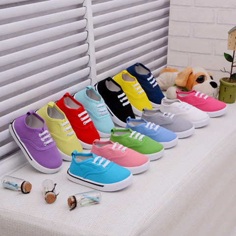 2016 Стелька 13 ~ 16.3 см детская обувь для мальчиков кроссовки детские девушки холст ...