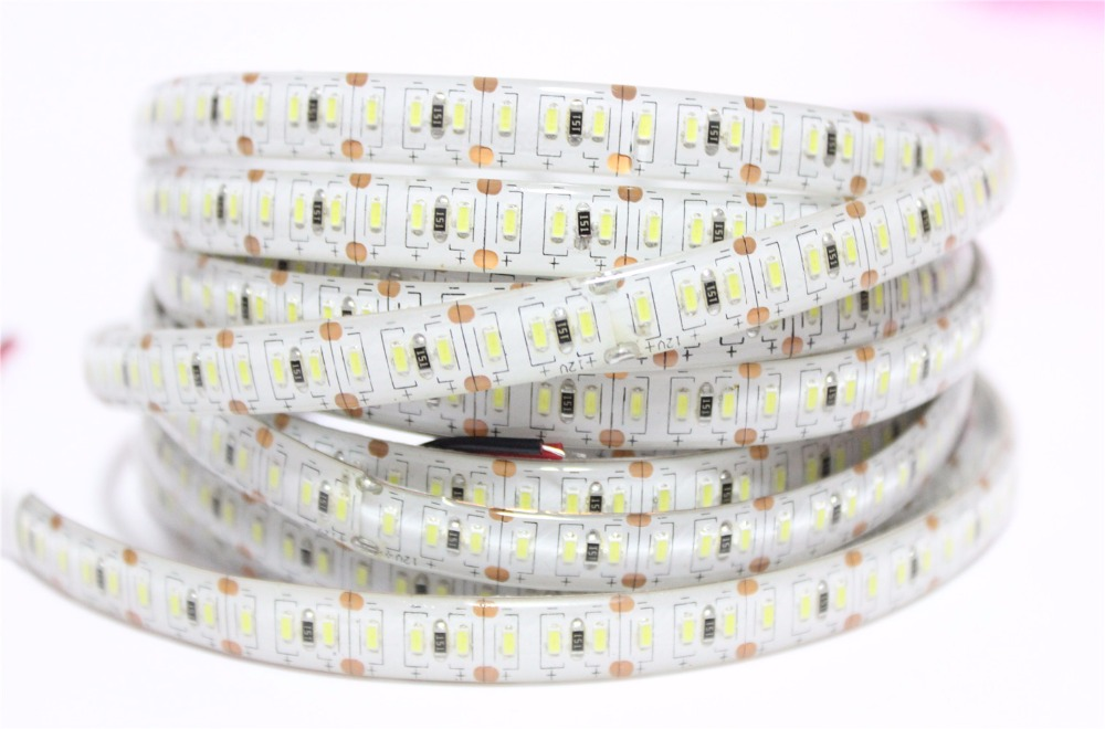 New SMD 3014 LED Strip, Super Bright 204led/m waterproof and no waterproof led tape light DC 12V white color,5m/lot(China (Mainland))