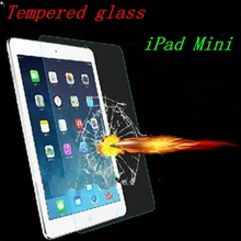 High Clear Reinforced Tempered Glass Screen Protector Hard Cover For Apple iPad Mini Premium Ultra Thin Film Protective Case(China (Mainland))