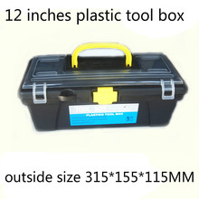 "12"" Plastic Tool Box size 315*155*115mm for Electric Drill Accessories  Toolbox  12 Inch case Parts box Household receive a case(China (Mainland))"