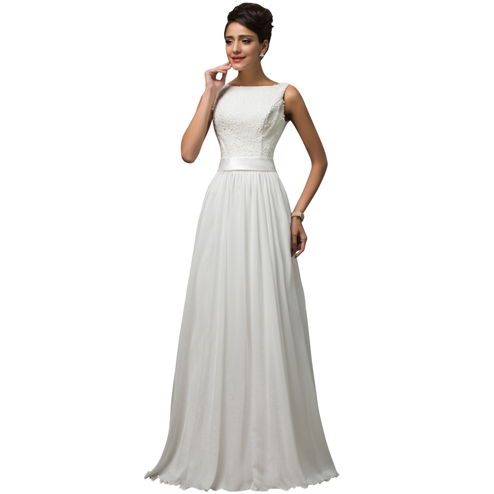 Buy white lace top bridesmaid dress 2016 for Wedding dresses boston cheap
