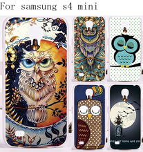 Durable Plastic and Silicon Phone Cases For Samsung Galaxy S4 mini I9190 Case Oxytropis Retro Stylish Night Owl Cover Protector