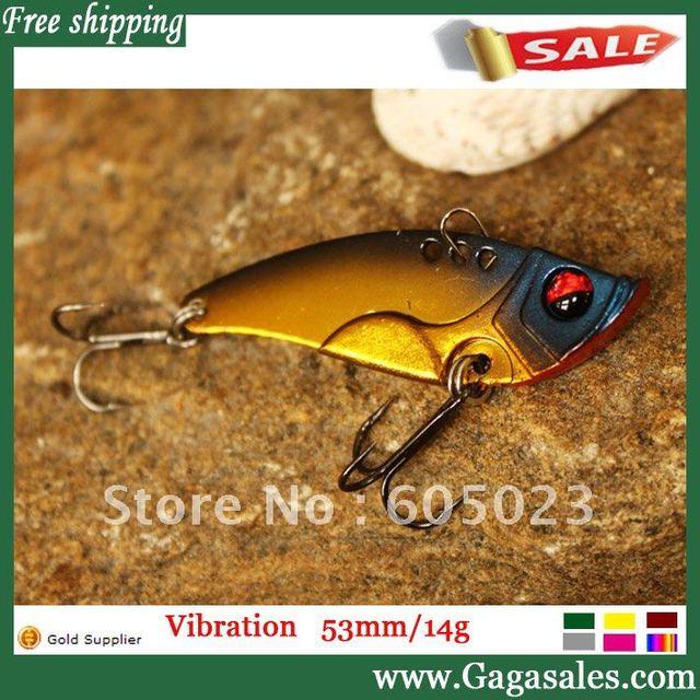 Superior 12pcs/lot Vibration Japan ABS Plastic Hard bait 5.3cm/14g/5 colors+color box packing+ fishing lures