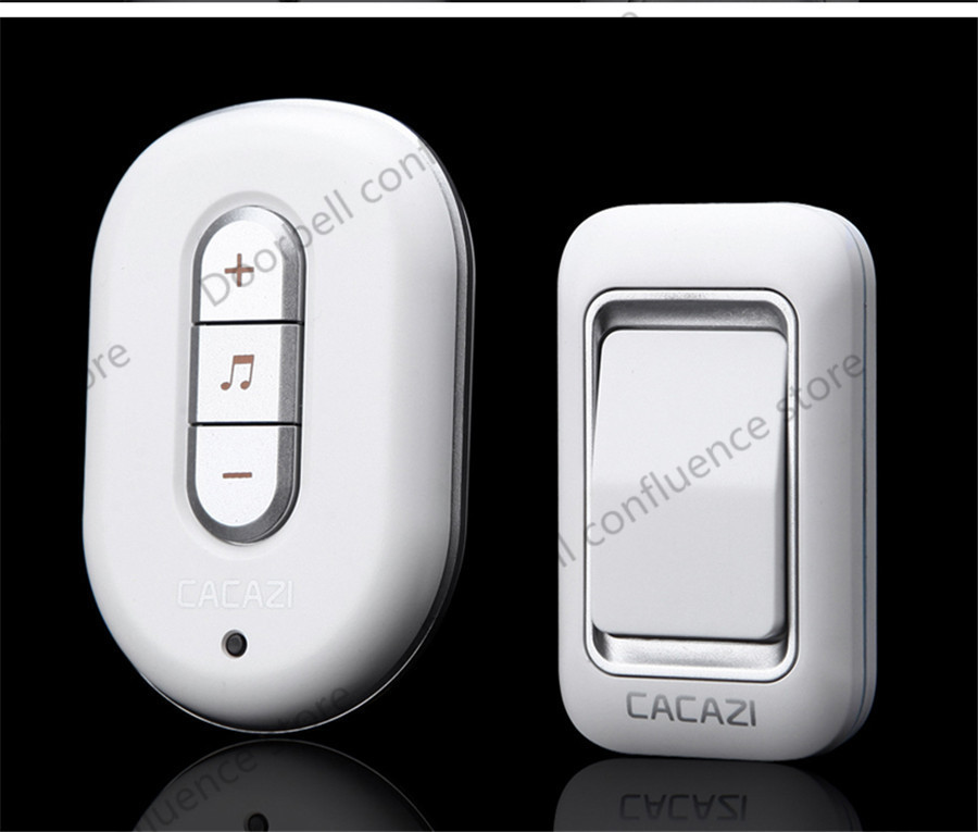 Wireless doorbell button waterproof 300m remote control digital home AC 110-220V plug-in elderly pager