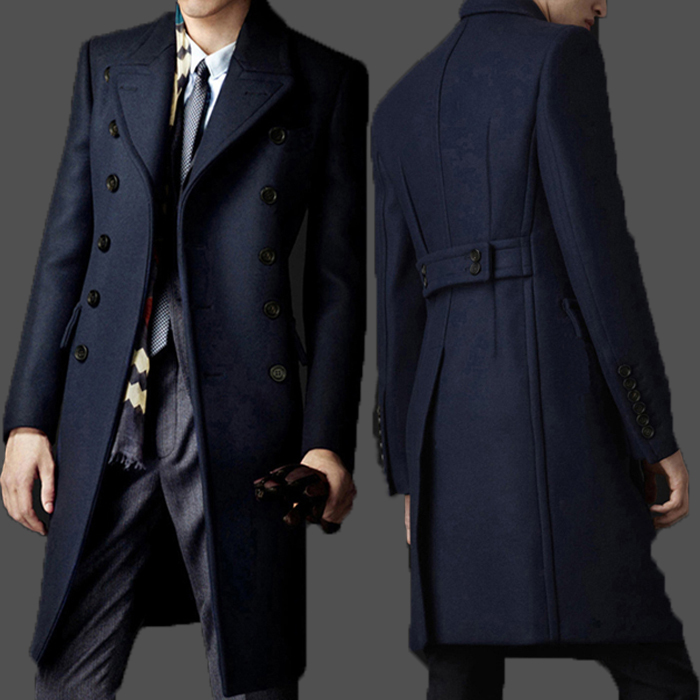 98830dc94 Fall-New Brand Bakham Long Trench Coat Wool Coat Winter Peacoat ...