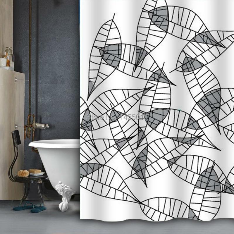 Polyester terylene FULL PRINTING leaf waterproof shower curtains, bathroom curtains, 180 cm * 200 cm(China (Mainland))