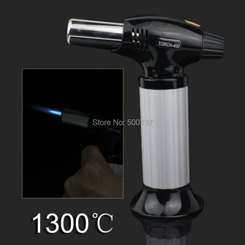 1300 Degree Adjustable Flame Butane Gas Torch Welding Kitchen Baking BBQ Cigarette Lighter BS-400(China (Mainland))