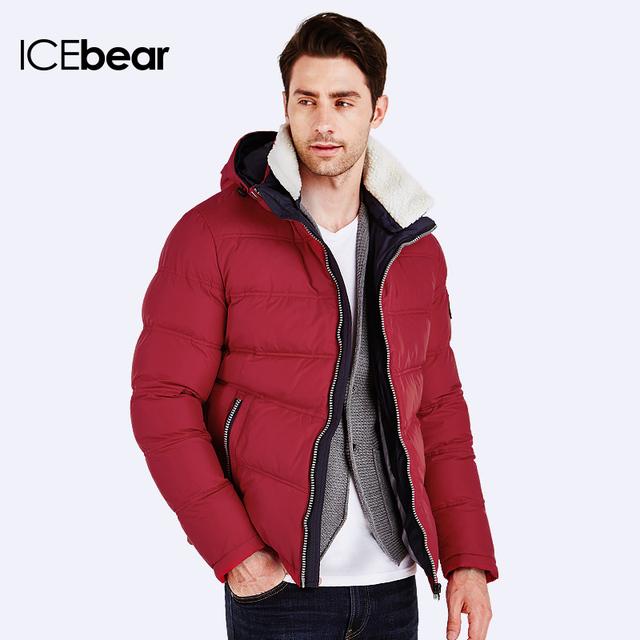 ICEbear 2016 Зимняя Куртка Мужчины Пуховик мужской зимний качественный Куртка мужская зимняя короткая фасон модный удобный стильный 16MD875