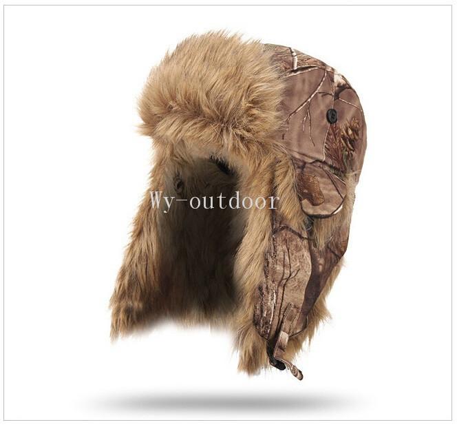 Браунинг зима теплая водонепроницаемый ветрозащитный бионический камуфляж хлопок стеганый охота камуфляж защитный ухо шапки бомбардировщиков шляпы