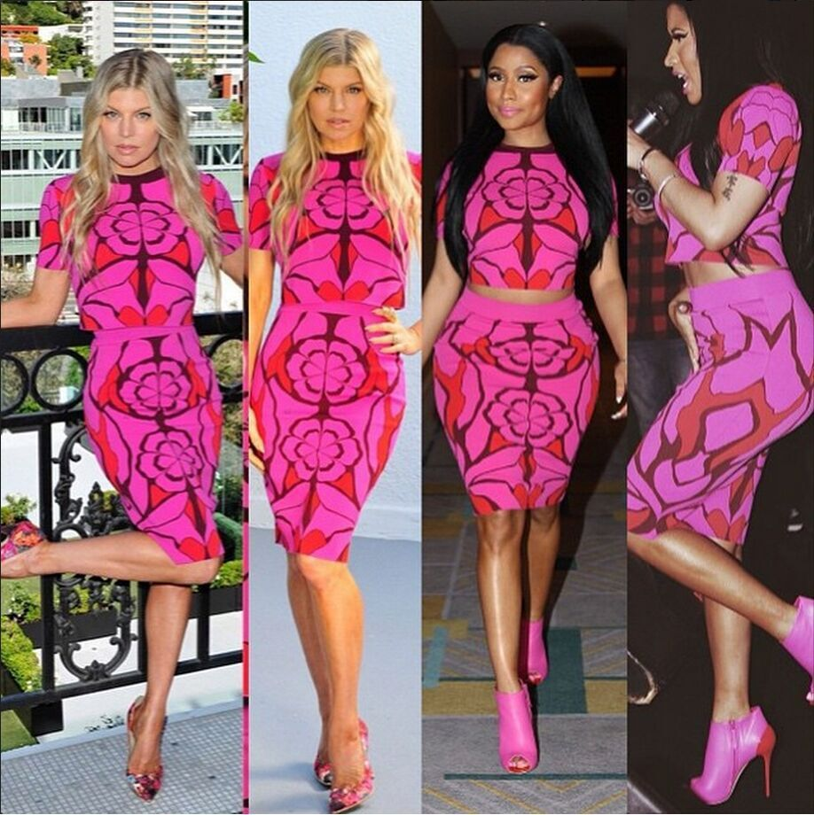 Sexy Women Two piece Outfits Dresses 2 Piece Bandage Bodycon Dress Summer American Apparel Print Dress Party Night Club Dress(China (Mainland))