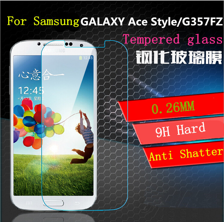 New Premium Tempered Glass Screen Protector Protective Guard Film 1Pcs For Samsung Galaxy Ace Style LTE G357 G357FZ(China (Mainland))