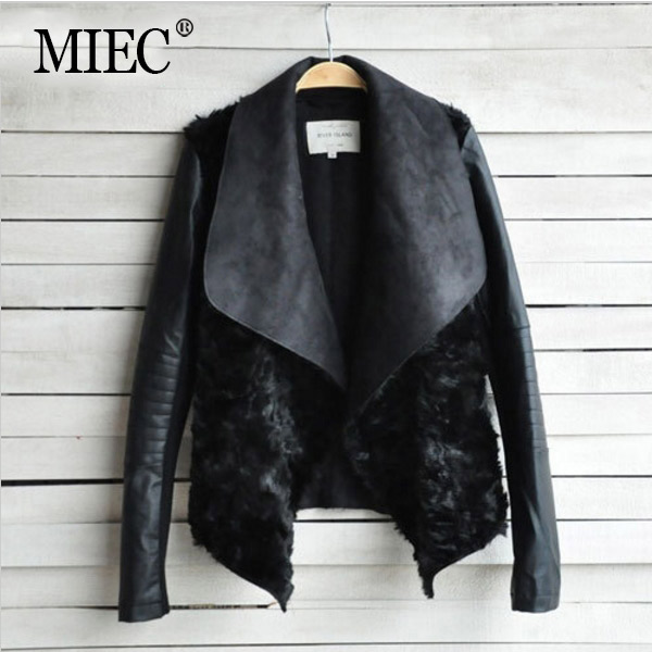 MIEC NEW Winter Women Jacket Woman Leather Coats 2016 Fashion Rabbit Fur Coat Famale Outerwear - YOFEAI GOOD CLOTHES Store store