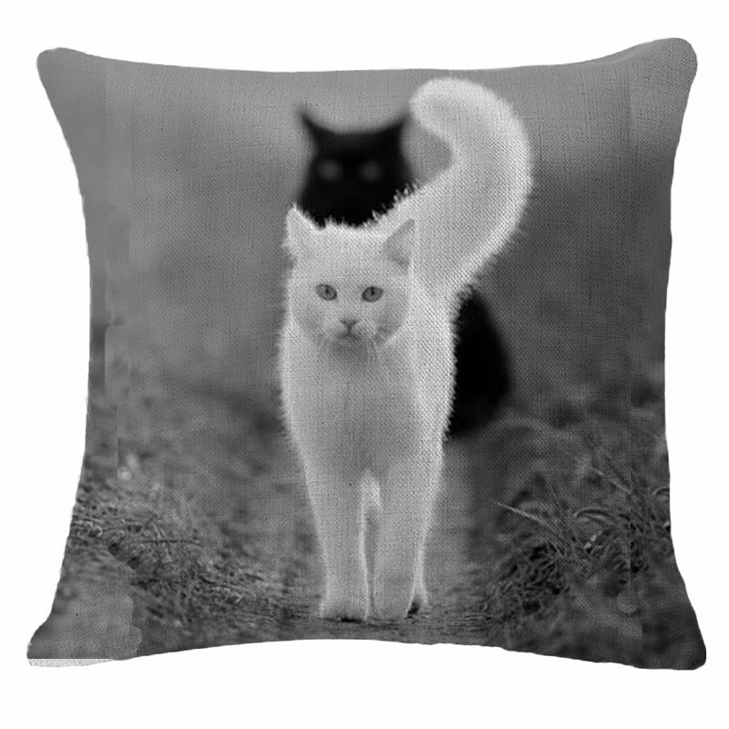 2017 Cat Style Fashion New Cushion Cat Print pillow Bed Sofa Home Decorative Pillow Fundas Para Almofadas Cojines Cushion cover