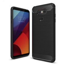 Buy 2017 latest fundas LG G6 caus slim Hybrid Super armor Carbon Fiber Texture Brushed soft tpu Silicone Cover G6 case  (XX89 ) for $1.95 in AliExpress store
