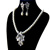 Silver Plated Crystal Party Gifts Fashion Bridal Necklace Dangle Earrings Set Elegant Flower Imitation Pearl Wedding Jewerly Set