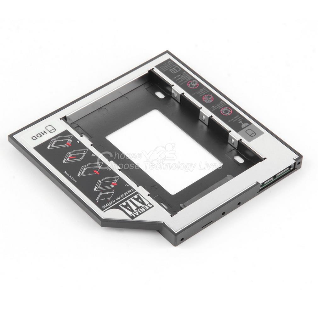 9 5mm Universal SATA 2nd HDD SSD Hard Drive Caddy for CD DVD ROM Optical Bay