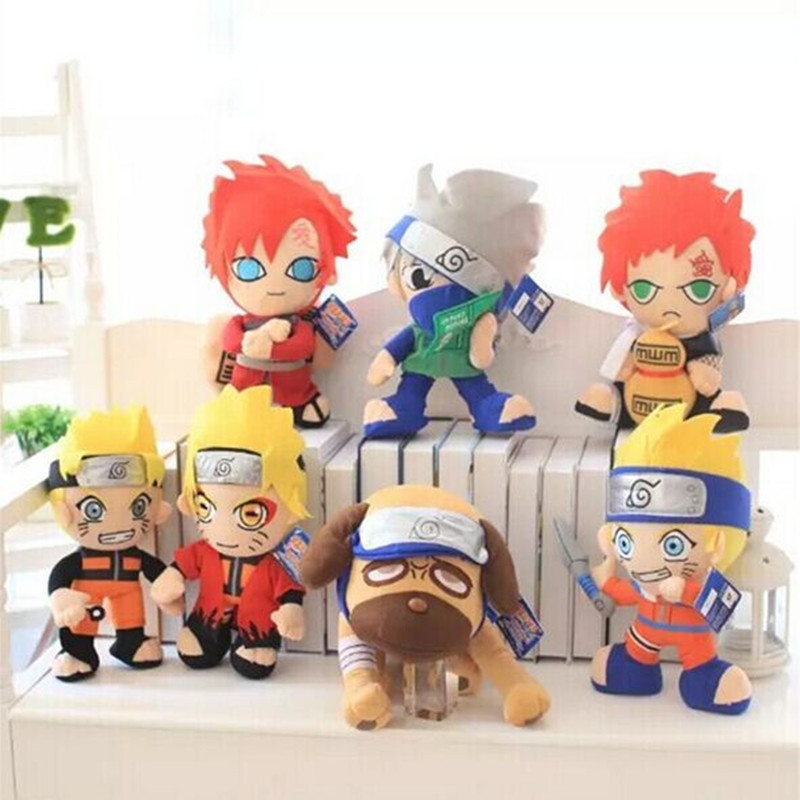 New Arrival 30cm-40cm Naruto Plush Toys Naruto Kakashi Gaara Parker Stuffed Soft Toys Kawaii Toys Brithday Gift(China (Mainland))