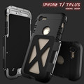 Armor King Iron Man Design Stainless Steel Aluminum Frame Flip Metal Case for iPhone 7 4