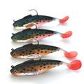 Hot sell 10 Pcs Artificial Rigged soft Fishing Lure Bionic Fish Soft Bait Fishy Smell Fishing