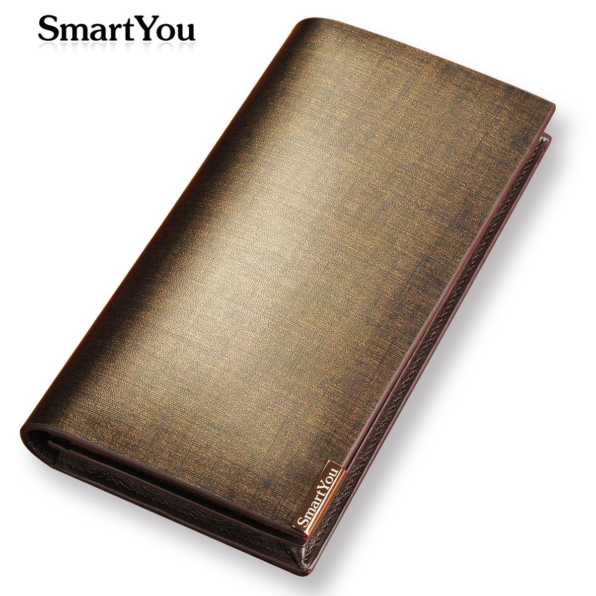 Free Drop Shipping Men's genuine leather wallet long design purse with button SGS REPORT GUARANTEE carteira de couro gift purse(China (Mainland))
