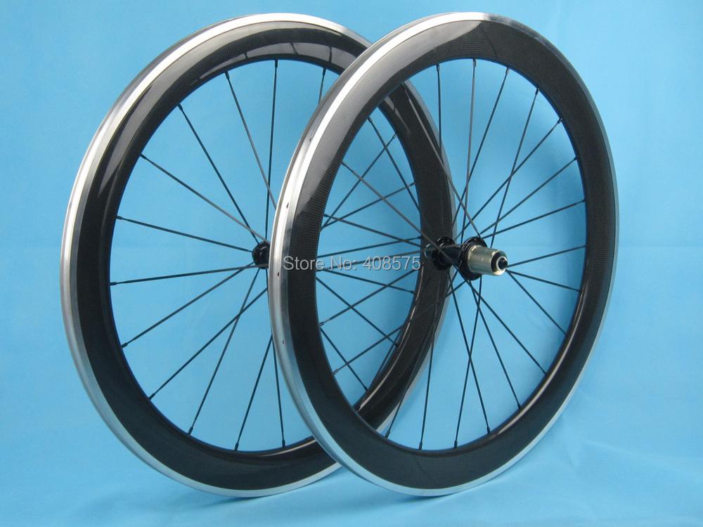 60mm carbon wheel road 6 pawls hub 20.5mm 23mm 25mm width 700C durable high quality carbon road bike wheel set<br><br>Aliexpress
