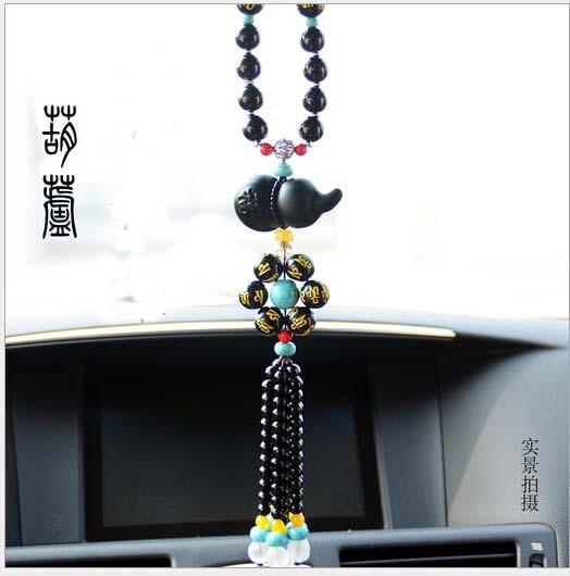 minium blue car pendant dragon and phoenix car pendant amulet car interior Decoration car Hang decoration(China (Mainland))