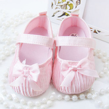 Baby Girls Shoes Toddler Infant Soft Anti-Slip Shoes Kids Princess Shoes First Walker(China (Mainland))