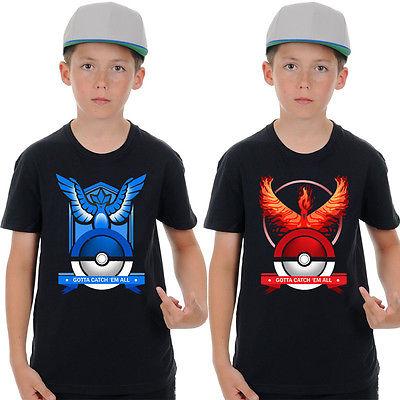 New font b Pokemon b font Go Cartoon Boys Girls Kids Cotton Short Sleeve Tops Tee