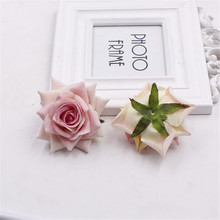 Buy Free 10PCS / Bag 8.5cm silk Rose Flower Head Artificial Handmade DIY Wedding Home Decoration Scrapbooking Rose Flower for $2.66 in AliExpress store