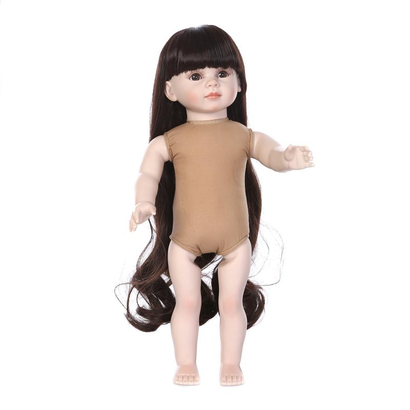 45cm American Girl Dolls Nude Little Dress Up Doll Toy For Toddler Girls Child Baby Birthday Gift Bedtime Early Education Toy(China (Mainland))