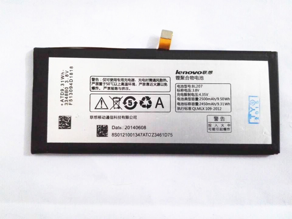 100% new battery replacement for Lenovo K900 BL207 Built-in battery 2500mah Free shipping+tracking number
