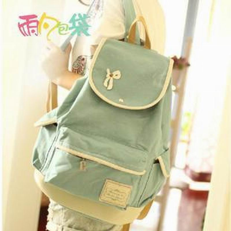 Bow-knot Women Canvas Backpack School bag For Girls Ladies Teenagers Casual Travel bags Schoolbag Backpack BS238B<br><br>Aliexpress