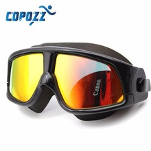 Copozz Swim Goggles for Men Women's Glasses Anti-Fog UV Large adults Sport Waterproof eyewear Silicone(China (Mainland))