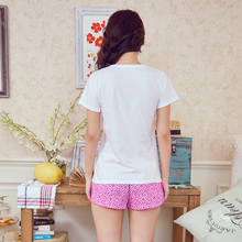 Printing new spring and summer song Riel sweet and lovely and comfortable short sleeved pajamas tracksuit