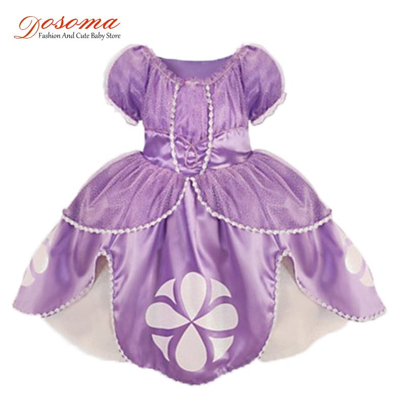 Гаджет  2015 Frozen Princess Sofia Girl Dress Costume Vestidos Princesa Sofia Roupas Infantil De Meninas Casual Dress Kids Clothes None Детские товары